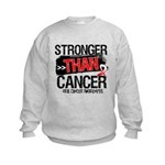 Stronger Than Oral Cancer Kids Sweatshirt