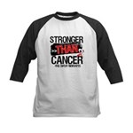 Stronger Than Oral Cancer Kids Baseball Jersey