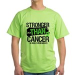 Stronger Non-Hodgkins Cancer Green T-Shirt