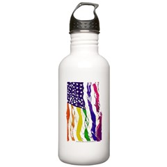 American Flag Color Water Bottle