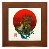Dragon original sun 1 Framed Tile