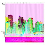 New York City Manhattan Shower Curtains | Custom Themed New York ...