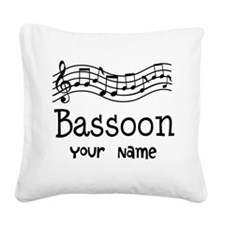 Personalized Bassoon Square Canvas Pillow