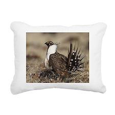 Sage Grouse Strut Rectangular Canvas Pillow