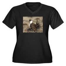 Sage Grouse Strut Plus Size T-Shirt