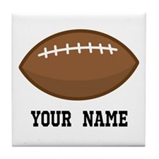 Personalized Football Tile Coaster