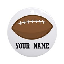 Personalized Football Ornament (Round)