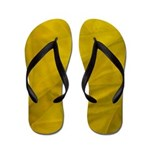 Flip Flops Yellow Fabric