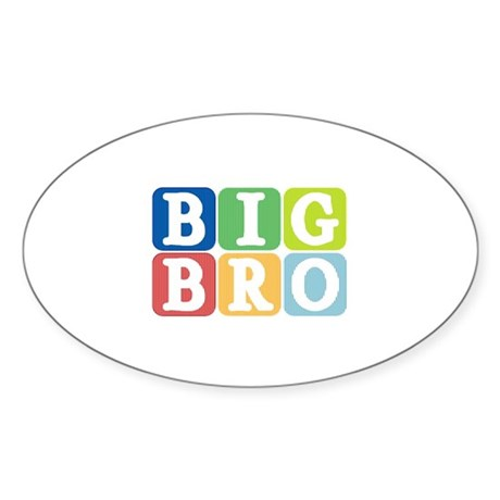 Big Bro Oval Sticker