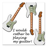 playingmyguitar.png Square Car Magnet 3