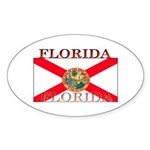 Florida Floridian State Flag Oval Sticker