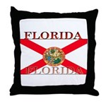 Florida Floridian State Flag Throw Pillow