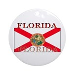 Florida Floridian Flag Christmas Ornament