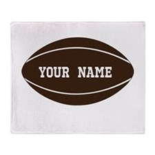 Personalized Rugby Ball Throw Blanket