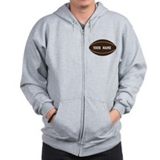 Personalized Rugby Ball Zip Hoody
