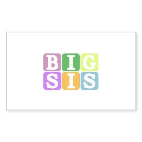 Big Sis Rectangle Sticker