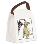 American dog.png Canvas Lunch Bag
