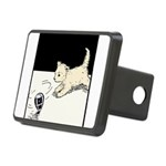 Cat with toy.png Rectangular Hitch Cover