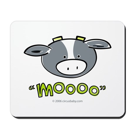 """Mooo"" Cow Mousepad"