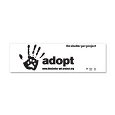 Cute Adopted dog Car Magnet 10 x 3
