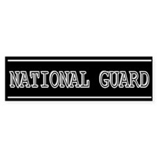 """National Guard"" Bumper Bumper Sticker"