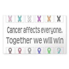 Cancer Affects Everyone Rectangle Decal