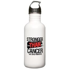 Stronger Than Lung Cancer Water Bottle