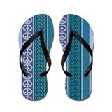 Peace Love Recycle Dawn Flip Flops