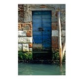 Blue Door in Venice Postcards (Package of 8)