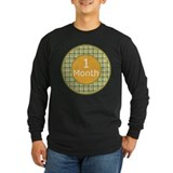1 Month Plaid Milestone Long Sleeve T-Shirt