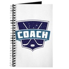 Hockey Coach Shield (blue) Journal