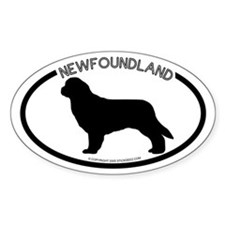 """Newfoundland"" White Oval Decal"
