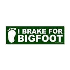 I Brake For Bigfoot Green (magnet)