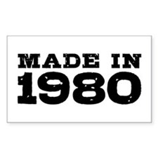Made In 1980 Decal