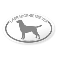 """Labrador"" White Oval Decal"