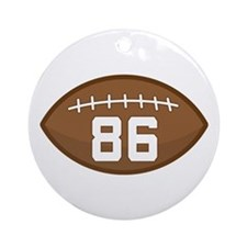 Football Player Number 86 Ornament (Round)