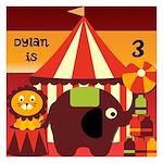 Big Top Circus Birthday 5.25 x 5.25 Flat Cards