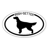 """Irish Setter"" White Oval Bumper Stickers"