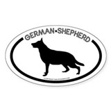 &quot;German Sheperd&quot; White Oval Decal