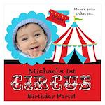 Photo Circus Birthday 5.25 x 5.25 Flat Cards