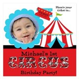 Photo Circus Birthday Invitations