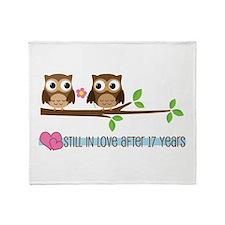 Owl 17th Anniversary Throw Blanket