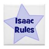 Isaac Rules Tile Coaster