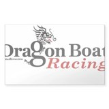 DragonBoat Racing Oval Bumper Stickers