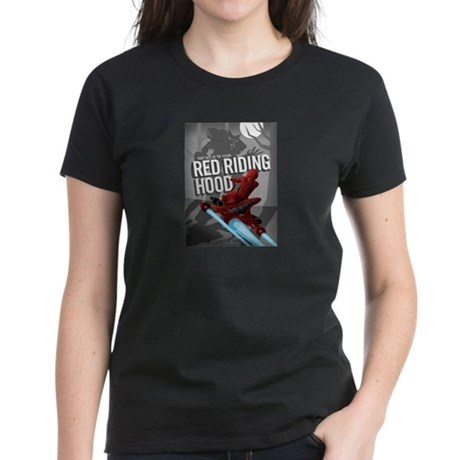 Sci Fi Red Riding Hood Women's Dark T-Shirt