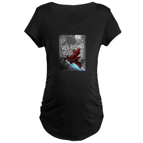 Sci Fi Red Riding Hood Maternity Dark T-Shirt