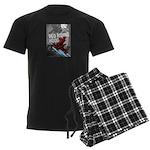 Sci Fi Red Riding Hood Men's Dark Pajamas
