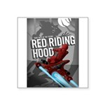 Sci Fi Red Riding Hood Square Sticker 3