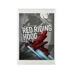 Sci Fi Red Riding Hood Rectangle Magnet