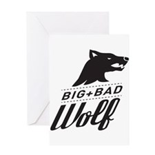 B&W Big Bad Wolf Greeting Card